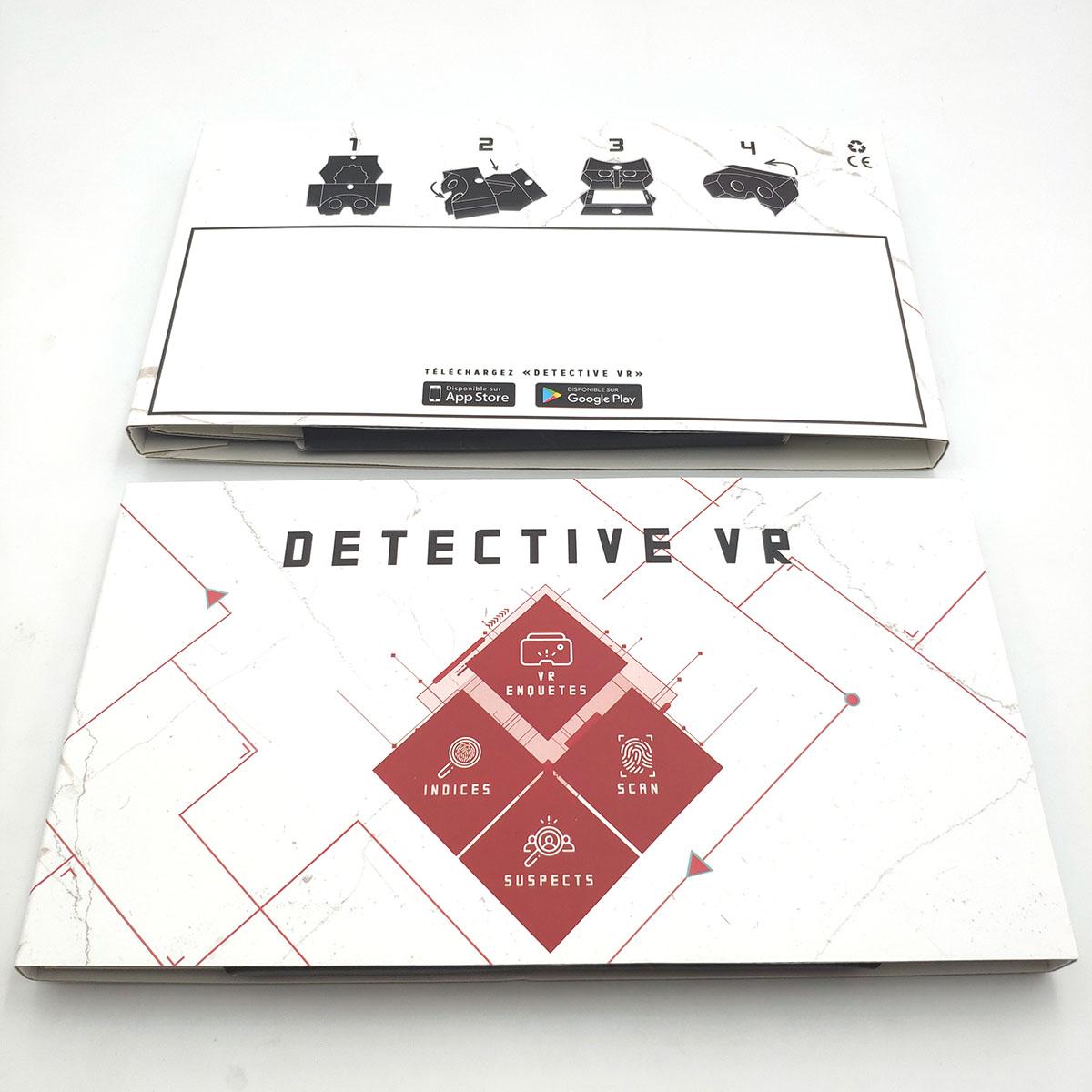 DETECTIVE VR - PACKAGING du jeu d'enquête en réalité virtuelle