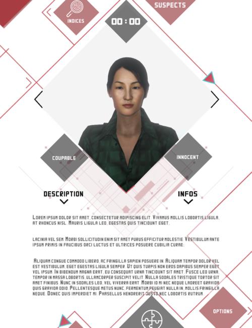 page des suspects - détective VR