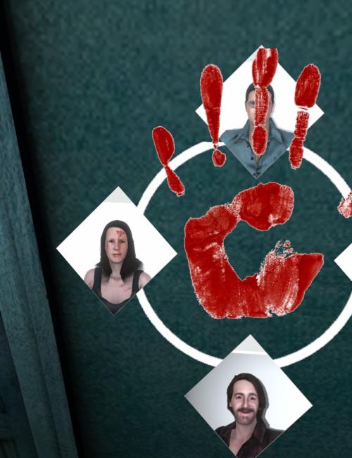 Indice 3D dans la scene VR de DETECTIVE-VR jeu d'enquête