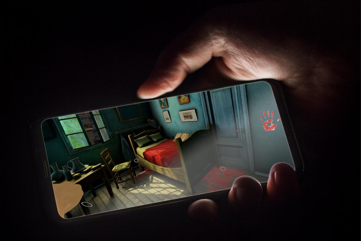 Detective VR app d'enquête en réalité augmentée les personnes de l'enquete visiter la scene de crime en VR 3D