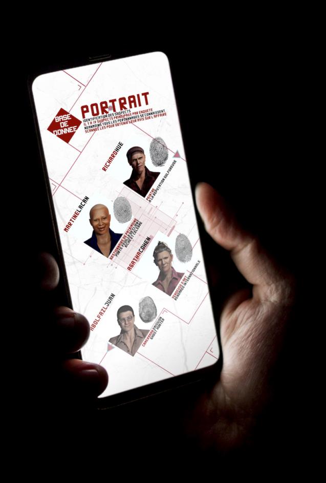 Detective VR app d'enquête en réalité augmentée les personnes de l'enquete intrigue 4